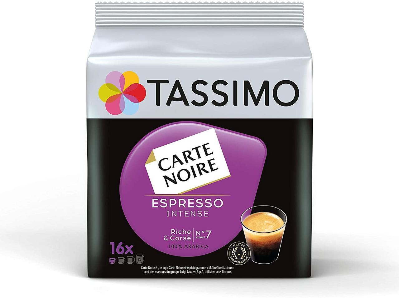 НОВИНКА! Кофе в капсулах Тассимо - CARTE NOIRE Espresso INTENSE (16 порций)