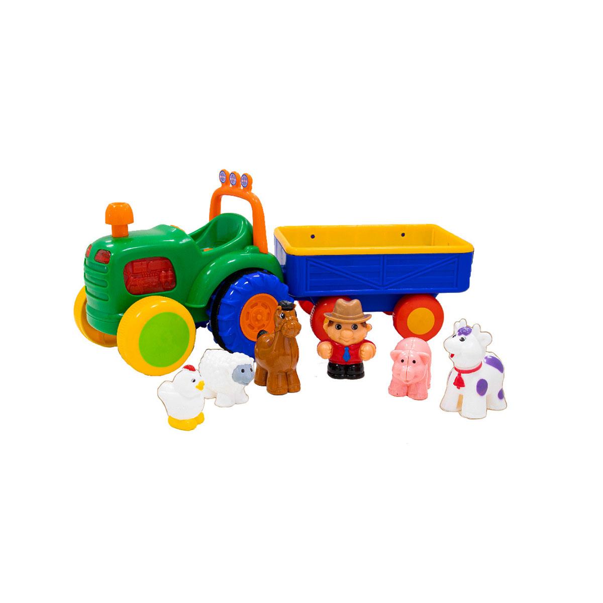 Іграшка на колесах - Трактор з трейлером (російська озвучка)
