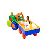 Іграшка на колесах - Трактор з трейлером (російська озвучка), фото 3