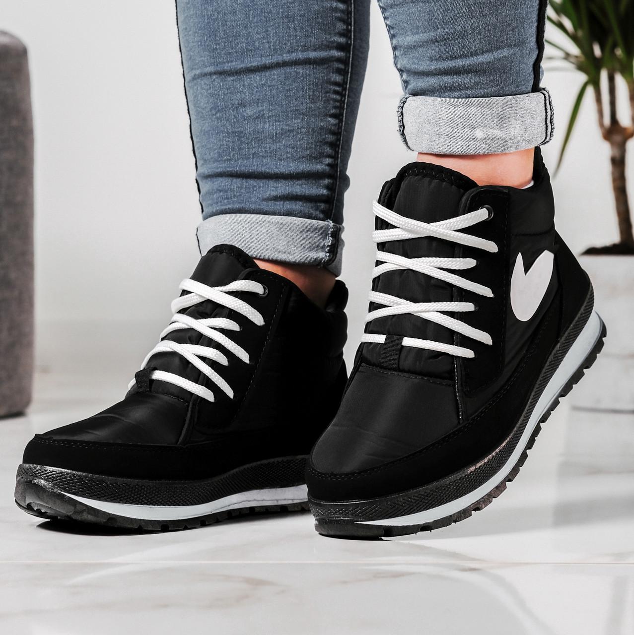 Черевики жіночі кросівки на хутрі утеплені (БТ-6н)