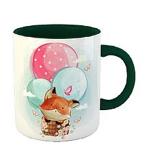 Чашка Лиса на воздушных шарах, фото 3