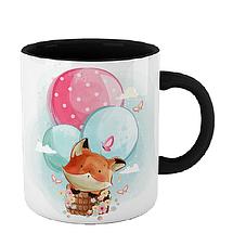 Чашка Лиса на воздушных шарах, фото 2