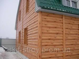 Блок-хаус металлический, сайдинг под бревно (цвет рыжее дерево) - СКИФ СТРОЙ в Запорожье