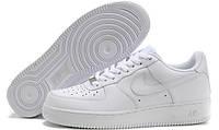 Кожаные кроссовки  женские Nike Air Force Low белые