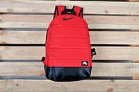 Спортивный рюкзак для подростка Nike Красного цвета спортивный городской портфель найк Красный