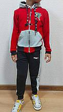 Спортивний костюм дитячий комбінований PUMA replik хлопчик 1 - 5 років купити оптом зі складу 7км Одеса