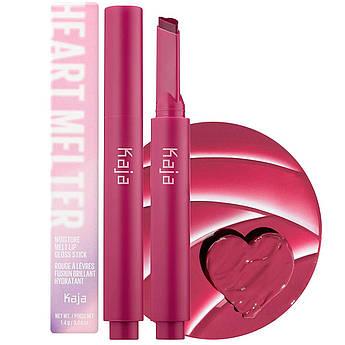 Увлажняющая помада-стик с глянцевым блеском Kaja Heart Melter Lip Gloss Be Mine Stick Be Mine 1.4 г
