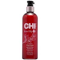 Защитный шампунь для окрашенных волос с маслом шиповника и кератином CHI Rose Hip Protecting Shampoo 340мл