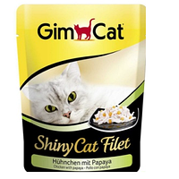 Консервы Gimpet Shiny Cat Filet для кошек, c курицей и манго, 70г