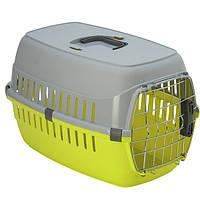 Переноска для собак і котів Роуд-Раннер Moderna IATA, 58х35х37 см, лимонний, T203329