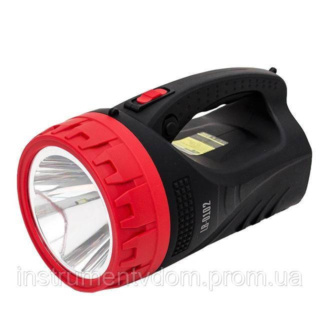 Фонарь аккумуляторный INTERTOOL LB-0102 (1 LED 5W+25 LED, Домашний Мастер)