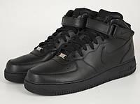 Кожаные высокие  кроссовки Nike Air Force High