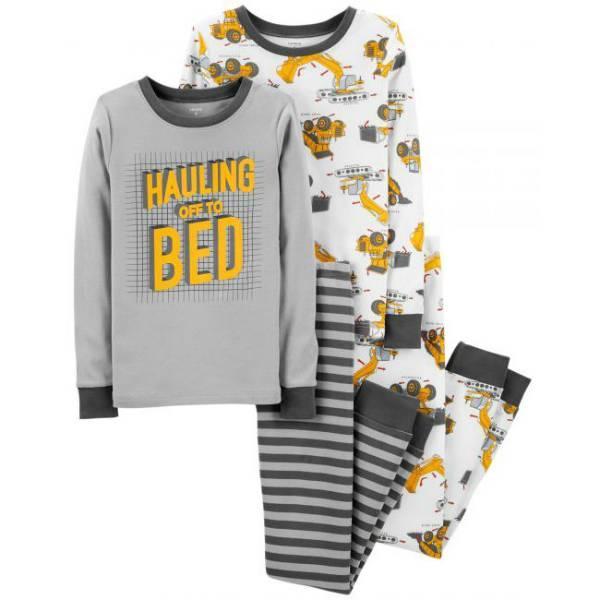 Набор из 2х хлопковых пижам для мальчика Carters строительная техника