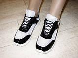 Кроссовки черные с серебристыми вставками Т547, фото 6