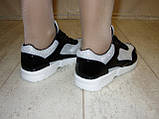 Кроссовки черные с серебристыми вставками Т547, фото 9