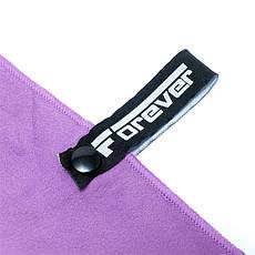 Опт Полотенце из микрофибры для спорта, фитнеса и путешествий 76х152 см - FOREVER - Фиолетовое, фото 2