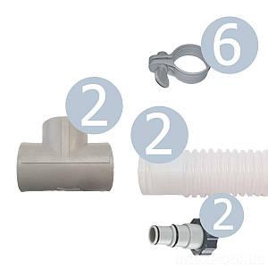 Набор для подключения IntexPool 22980, для схемы распределения давления (коврик нагреватель) под шланг 38 мм,