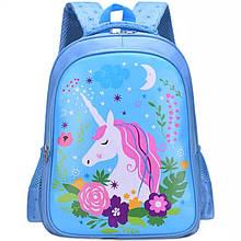 Рюкзак школьный Единорог Голубой (0016)