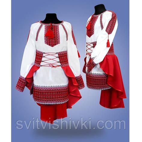 """Вышитый костюм для девочки """"Павлин"""", фото 2"""