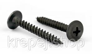 Саморез   4,2х51 по металлу с пресс-шайбой острый черный  (250  штук/упаковка)