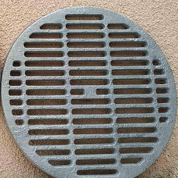 Чавунна решітка гриль кругла на чавунну плиту під казан 39.5 см