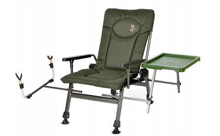 Крісло коропове з підставкою для вудки і бічним столиком M-Elektrostatyk F5R ST/P NN, фото 2