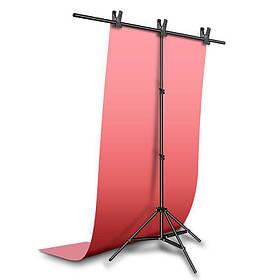 Фотозона для съемки ПВХ Фон 120×200 см.Розовый + Держатель фона