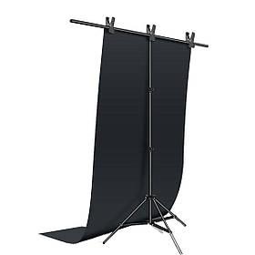 Фотозона для съемки ПВХ Фон 120×200 см.Черный + Держатель фона