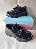 Сині черевички на шнурочках для дівчинки. Школа., фото 3