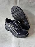 Сині черевички на шнурочках для дівчинки. Школа., фото 2