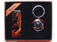 Подарочный набор BROAD зажигалка и брелок-фонарик алPN3-81-3