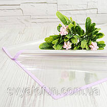 Пленка для букетов листовая лаванда 20шт/уп