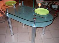 Стеклянный стол для ресторанов, кафе
