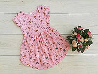 """Дитяче плаття """"Рожевий фламінго"""" зріст 104-116 см"""