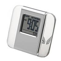 Настольные электронные часы в пластиковом корпусе под нанесение логотипа