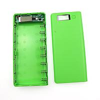 Корпус павербанка Dual USB 5В 2А, 8*18650, зеленый