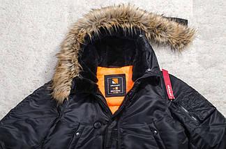 Зимняя мужская куртка аляска Olymp - N-3B, Slim Fit, Color: Black (100% Нейлон), фото 2
