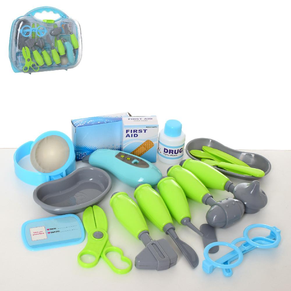 Доктор D1505C (18шт) мед.інструменти, окуляри, ножиці, в валізі, 33-28-9,5см