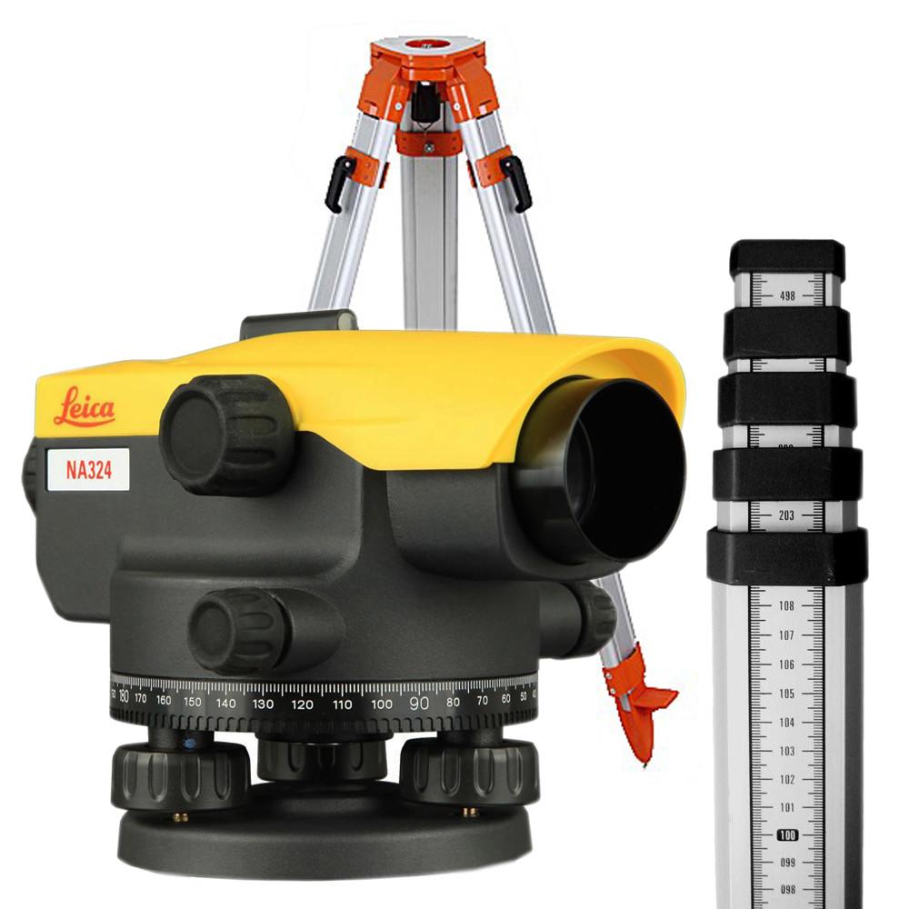 Нивелир оптический Leica Na324 + штатив + рейка 5м