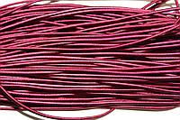 Резинка круглая, шляпная 2.5мм, бордо