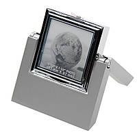 Часы-трансформер настольные в металлическом корпусе с фоторамкой