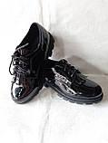 Шкільні туфлі для дівчинки. Туфлі під форму., фото 6