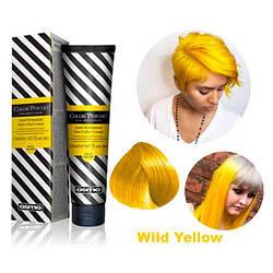 Osmo Color Psycho. Прямий пігмент для яскравого фарбування волосся, 150 мл Wild Yellow, дикий жовтий