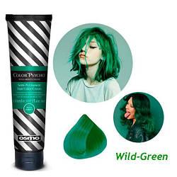 Osmo Color Psycho. Прямий пігмент для яскравого фарбування волосся, 150 мл Wild Green, дикий зелений