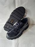 Синие туфельки для девочки в школу.Новинка., фото 6