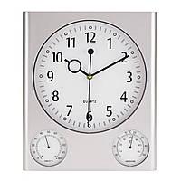 Настенные часы офисные Saturn с гигрометром и термометром