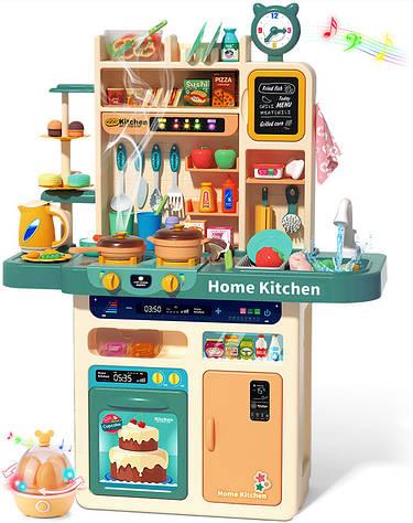 Детская игровая интерактивная кухня Home Kitchen 93 см.,88 аксессуаров, синяя