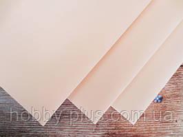 Фоамиран ПЕРСИКОВИЙ, 60x70 см, 0,8-1,2 мм., Іран