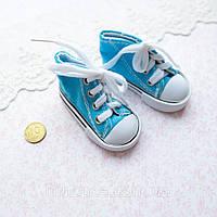 Обувь для Кукол Кеды на Шнуровке 7*3 см БИРЮЗА