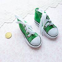 Обувь для Кукол Кеды на Шнуровке 7*3 см ЗЕЛЕНЫЕ